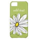 Trendy Daisy Floral Illustration - lime and yellow Case For iPhone 5C