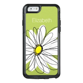 Trendy Daisy Floral Illustration - Lime And Yellow Otterbox Iphone 6/6s Case by MarshEnterprises at Zazzle