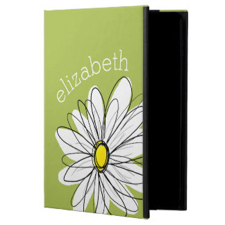 Trendy Daisy Floral Illustration - lime and yellow Powis iPad Air 2 Case