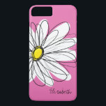 "Trendy Daisy Floral Illustration - pink yellow iPhone 8 Plus/7 Plus Case<br><div class=""desc"">A zen and whimsical,  hipster cover.</div>"