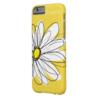 Trendy Daisy Floral Illustration - yellow Barely There iPhone 6 Case