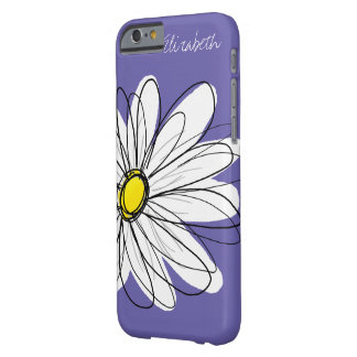 Trendy Daisy Floral Illustration yellow purple Barely There iPhone 6 Case