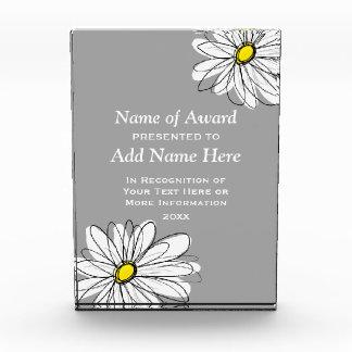 Trendy Daisy with gray and yellow Acrylic Award