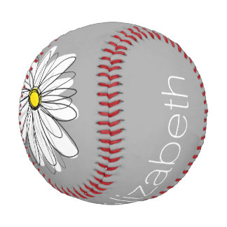 Trendy Daisy with gray and yellow Baseball