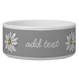Trendy Daisy with gray and yellow Bowl