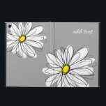 "Trendy Daisy with gray and yellow Case For iPad Air<br><div class=""desc"">A zen and whimsical,  hipster piece of art. You can add a name,  monogram or other custom text. If you need to move the art around,  click on the customize button to make changes.</div>"
