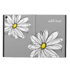 Trendy Daisy With Gray And Yellow Case For Ipad Air at Zazzle