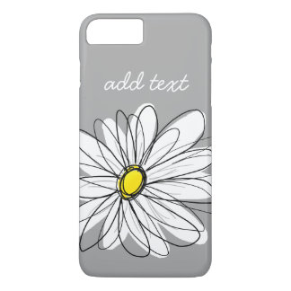 Trendy Daisy with gray and yellow iPhone 7 Plus Case