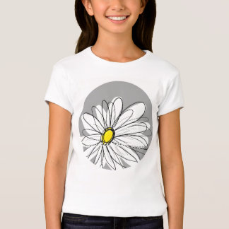 Trendy Daisy with gray and yellow T-Shirt