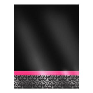 Trendy Damask Pink and Black Flyer