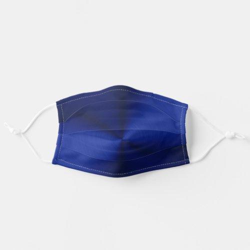 Trendy Dark Blue Metallic Modern Cloth Face Mask