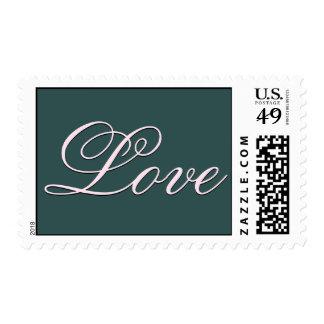 Trendy Dark Slate Grey Love Wedding Postage