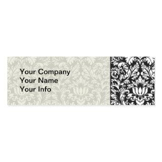 Trendy Decorator Floral Damask Trellis Pattern Business Card Templates