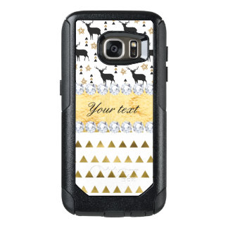 Trendy Deer Triangles Pattern and Diamonds OtterBox Samsung Galaxy S7 Case