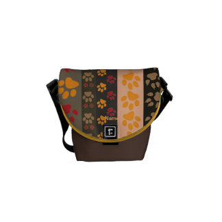 TRENDY Dog Paw Print Dog Walkers Bag Personalized