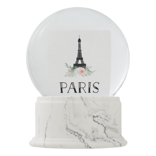 Light Tower Globes: Trendy Eiffel Tower And Blush Pink Flowers