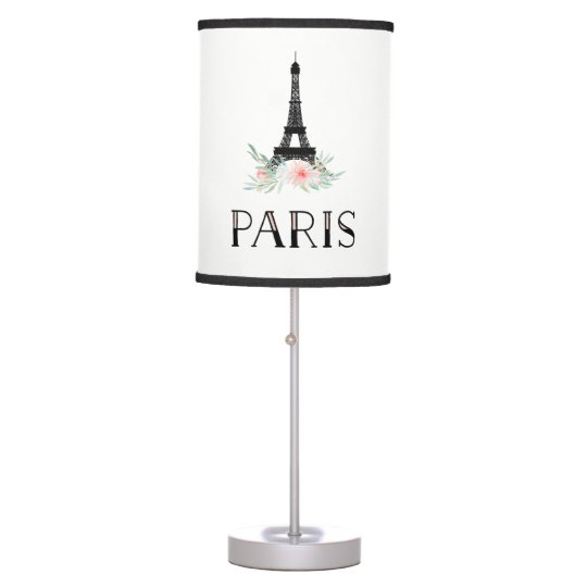 Trendy Eiffel Tower and Blush Pink Flowers   Paris Table ...
