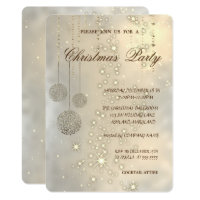 Trendy Elegant Christmas Balls,Christmas Party Invitation