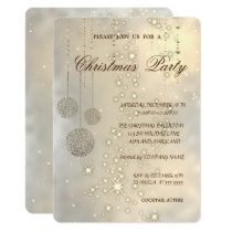 Trendy Elegant Christmas Balls,Christmas Party Invitation