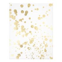 Trendy elegant faux gold modern confetti pattern flyer