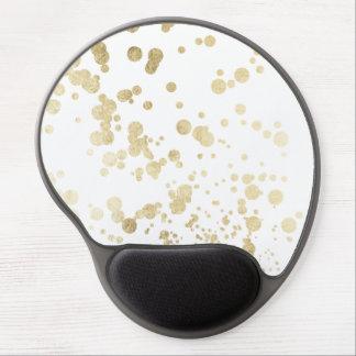 Trendy elegant faux gold modern confetti pattern gel mouse pad