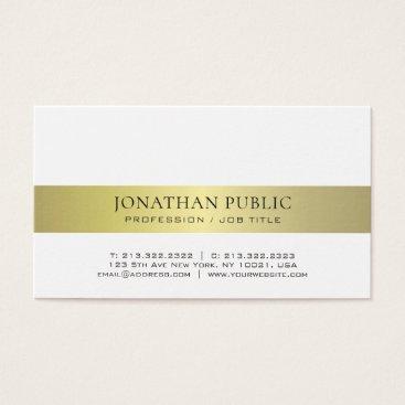 Lawyer Themed Trendy Elegant Modern Professional Gold Plain Business Card