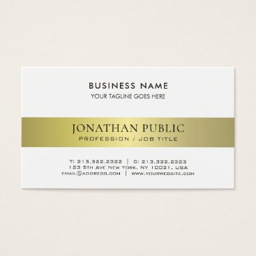 Lawyer Themed Trendy Elegant Modern Professional Gold Plain Luxe Business Card