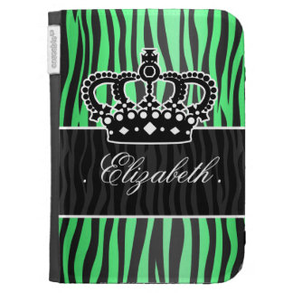 trendy emerald green and black zebra print cases for the kindle