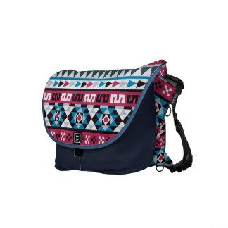 Trendy Ethnic Aztec Geometric Pattern Messenger Bag