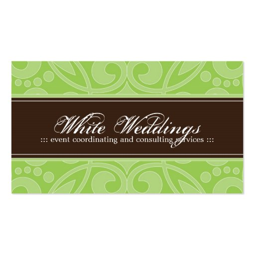 Trendy Event Planner Business Card