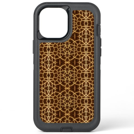 Trendy Exotic Giraffe Fur Pattern Animal Print OtterBox Defender iPhone 12 Pro Max Case