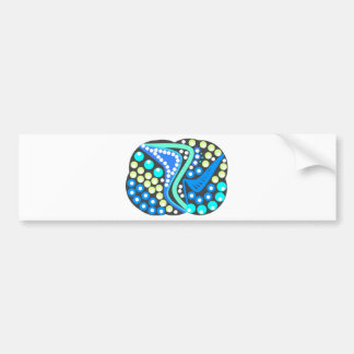 Trendy fashion Abstract. on multiple products Bumper Sticker