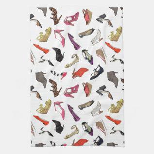 Trendy Fashion Shoes Kitchen Towel at Zazzle