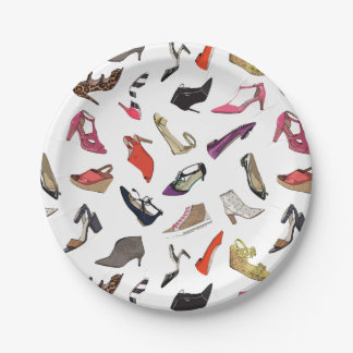 Trendy fashion shoes Paper Plates