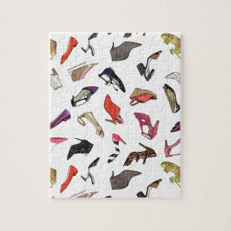 Trendy fashion shoes puzzle
