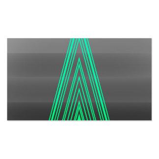 Trendy Fashion Triangle Green Neon Line Art Business Card