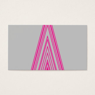 Trendy Fashion Triangle Pink Neon Line Art Business Card
