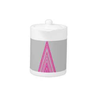 Trendy Fashion Triangle Pink Neon Line Art Teapot