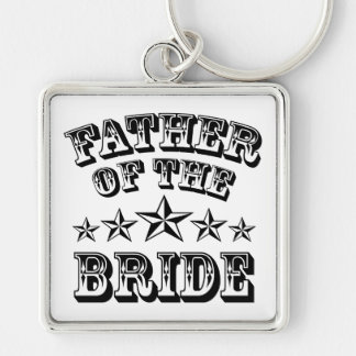Trendy Father Of The Bride Keychain