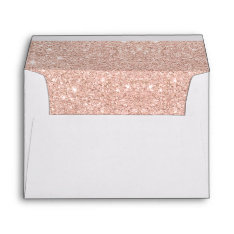 Trendy Faux Glitter Rose Gold Brushstrokes Marble Envelope at Zazzle