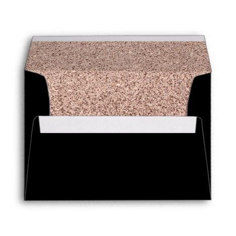 Trendy Faux Glitter Rose Gold Elegant 5x7 Envelope