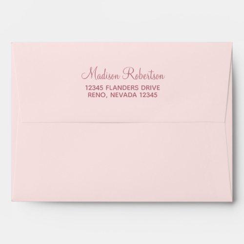 Trendy Faux Glitter Rose Gold Elegant 5x7 Envelope