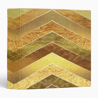 Trendy Faux Gold Foil Chevrons 3 Ring Binder