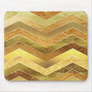 Trendy Faux Gold Foil Chevrons Mouse Pad