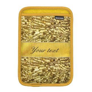 Trendy Faux Gold Foil Zebra Stripes iPad Mini Sleeves