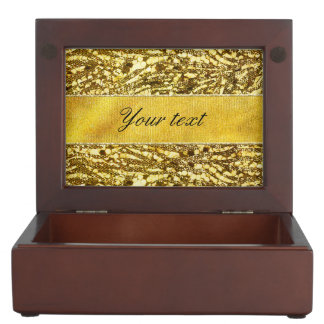 Trendy Faux Gold Foil Zebra Stripes Keepsake Box