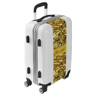 Trendy Faux Gold Foil Zebra Stripes Luggage