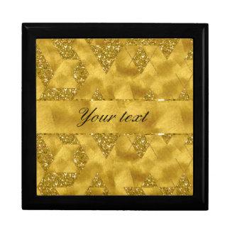 Trendy Faux Gold Glitter Triangles Gift Box