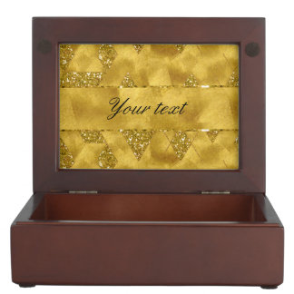 Trendy Faux Gold Glitter Triangles Memory Box