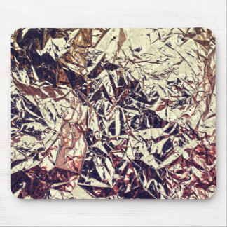 Trendy Faux Gold Leaf Crumbly Foil Mouse Pad